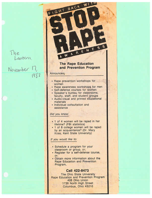 The Rape Education and Prevention Program Announces...
