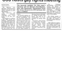OSU Hosts Gay Rights Meeting