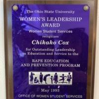 The Ohio State university Women's Leadership Award - Chikako Cox